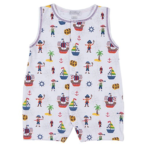 Kissy Kissy Baby Boys Buccaneers Print Slvlss Short Playsuit