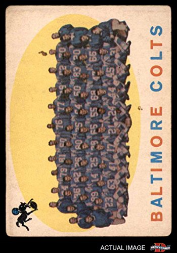 1959 Topps # 17 Colts Team Checklist Baltimore Colts (Football Card) Dean's Cards 2 - GOOD Colts