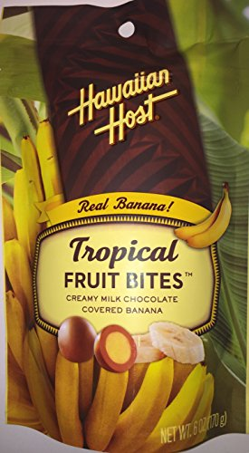 Hawaiian Host Tropical Fruit Bites Milk Chocolate Covered Banana 6 oz. by Hawaiian Host