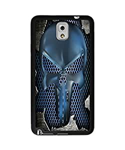 Super Cool Punisher Skull with Metal Pattern Plastic and TPU Case Cover for Samsung Galaxy Note 3 (Laser Technology)