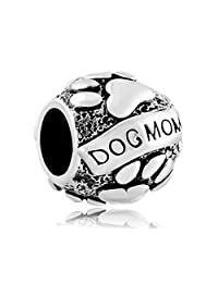 Christmas Gifts Paws Animal Dog Mom Silver Plated Charm New Sale Cheap Beads Fit Pandora Jewelry Bracelet