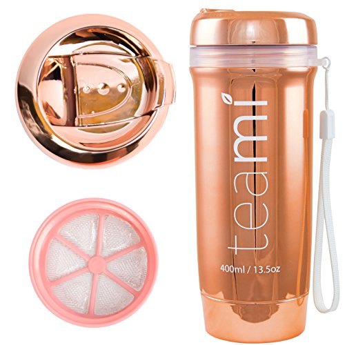 3472c14801 ROSE GOLD TEAMI TEA TUMBLER with Infuser | 100% BPA FREE Bottle | Our Best Infusion  Bottles for Infused Fruit Water, Smoothies, and Detox Teas | Double ...
