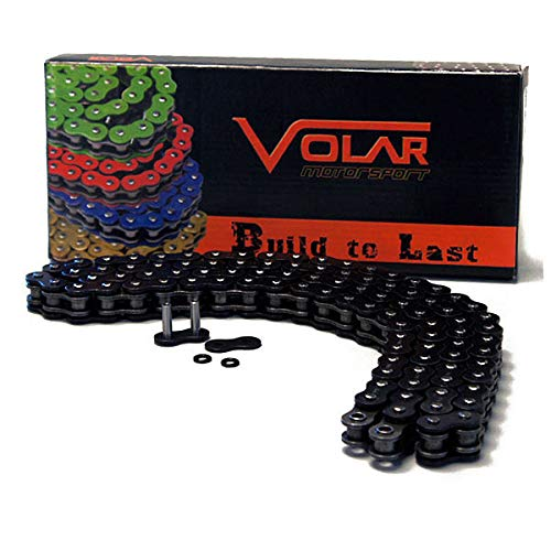 Volar O-Ring Motorcycle Chain for Extended Swingarm - Black for 520 x 150 Links
