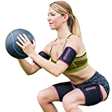 TNT Body Wraps for Arms and Slimmer Thighs - Lose Arm Fat & Reduce Cellulite - 4 Piece Kit, Small, Pink