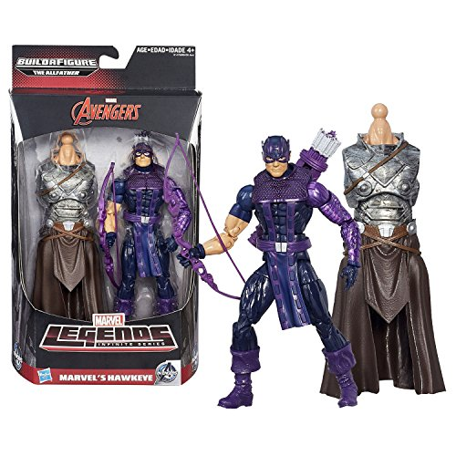Hasbro Year 2015 Marvel Legends Infinite The Allfather Series 6 Inch Tall Figure - Marvel's HAWKEYE with Bow, Arrows and The Allfather Abdomen