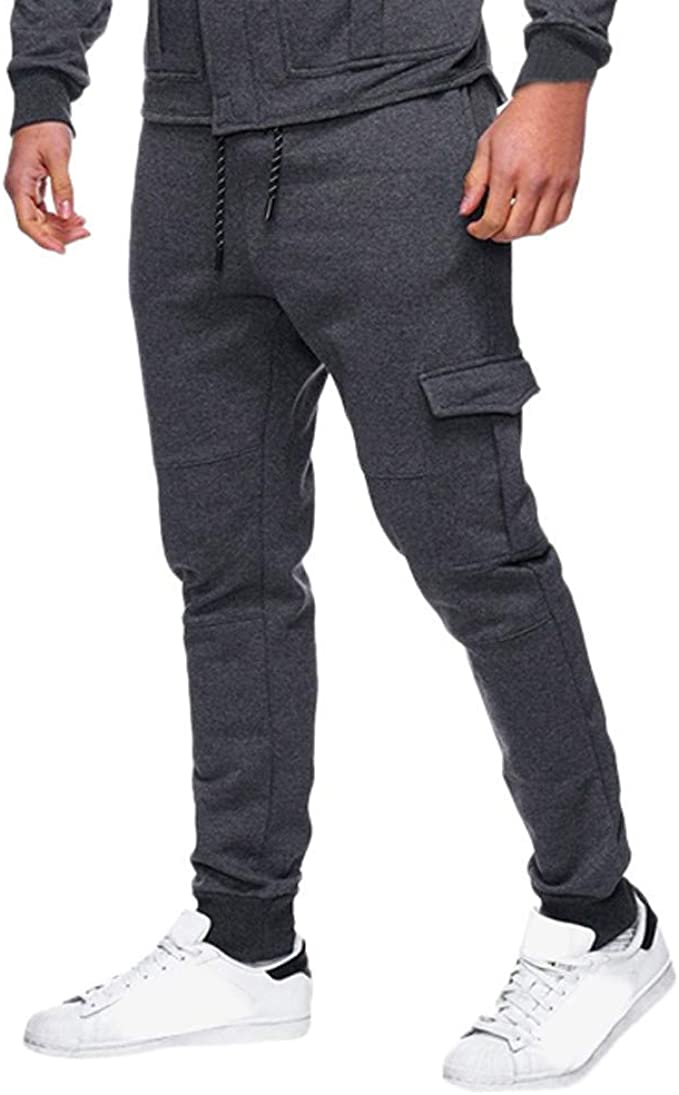 Pantalones De Hombre Pantalones Color Liso Pantalones Ropa De ...