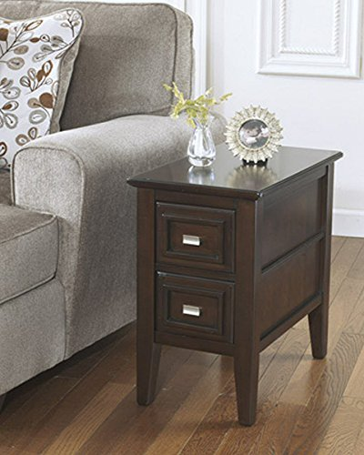 Cheap Ashley Furniture Signature Design – Larimer Chair Side End Table – 2 Drawer – Rectangular – Dark Brown