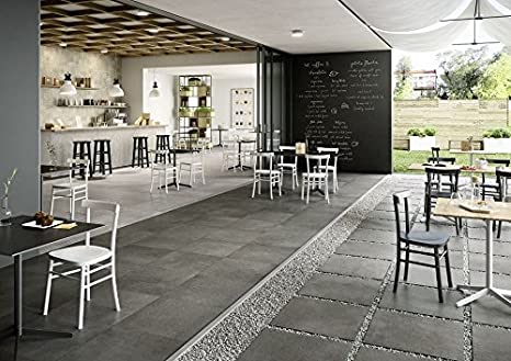 Marazzi plaster anthracite 60x120 cm mmau piastrelle pavimenti
