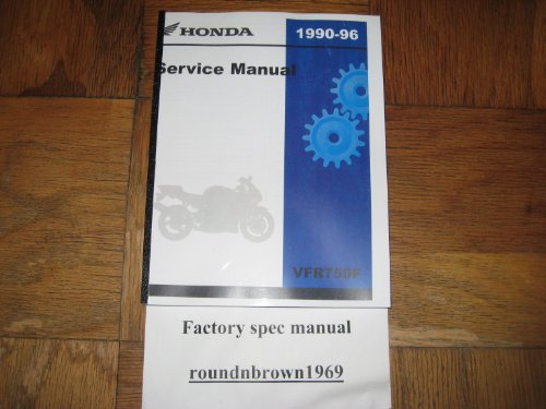 1990-1996 Honda VFR750F VFR750 F VFR 750F Interceptor Service Manual Book Part# 61MT406