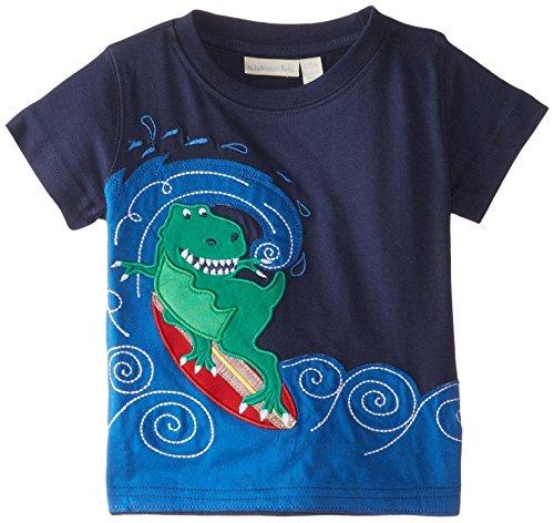 Jojo Maman Bebe Baby Boys' Surfing Dino T Shirt, Navy, 12 18 Months