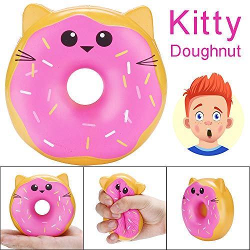 Euone Toy Clearance , 10cm Squishies Kitty Doughnut Slow Rising Cream Scented Stress Relief Toys