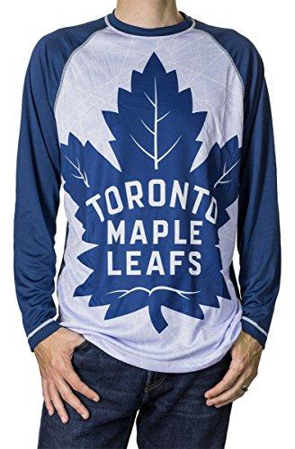 NHL Men's Performance Long-Sleeve Rash Guard (Toronto Maple Leafs, X-Large)