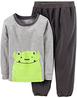 Carter's Baby Boys' 2 Piece Pant PJ Set (Baby) - Gray