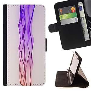 BullDog Case - FOR/Apple Iphone 5 / 5S / - / Neon Pink Stream /- Monedero de cuero de la PU Llevar cubierta de la caja con el ID Credit Card Slots Flip funda de cuer