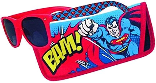 Sunglasses with Coordinating Soft Sunglass Case (Superman Bam, - Sunglasses Bam