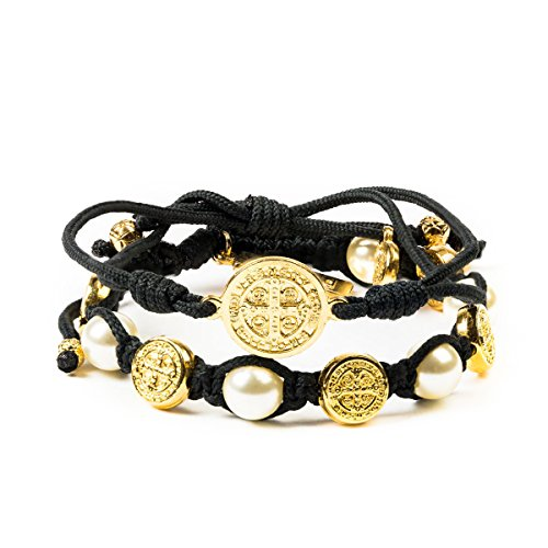 My Saint My Hero Divine Blessings and Protection Set (Black, Gold-Plated-Base) ()