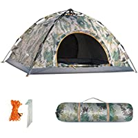 HollyHOME Family Automatic Backpacking Tent with Carrying...