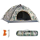 HollyHOME 1-2 Person Pop Up Backpacking Tent for Camping with Carry Bag, Double Layer, 4 Seasons, Lightweight and Water Resistant, Navy