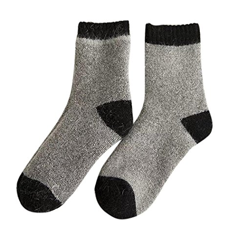 Sagton Women Mens Casual Knitted Wool Socks Warm Winter Boot Socks Dark Gray Pzz1N
