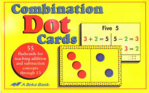 ABeka Book Combination Dot Cards, Grades 1-2, 55 Addition/Subtraction for sale  Delivered anywhere in USA