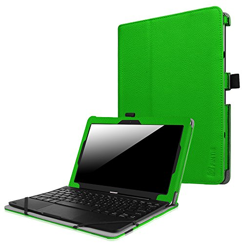 Fintie Nextbook Flexx 10 2016 / Nextbook 10 Case - Premium PU Leather Folio Cover for Nextbook Flexx 10 Convertible Laptop with keyboard / Nextbook 10 [Not Fit Old Version Nextbook 10.1], Green