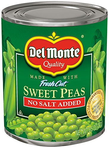 (Del Monte Canned Fresh Cut Sweet Peas No Salt Added, 8.5 Ounce (Pack of)