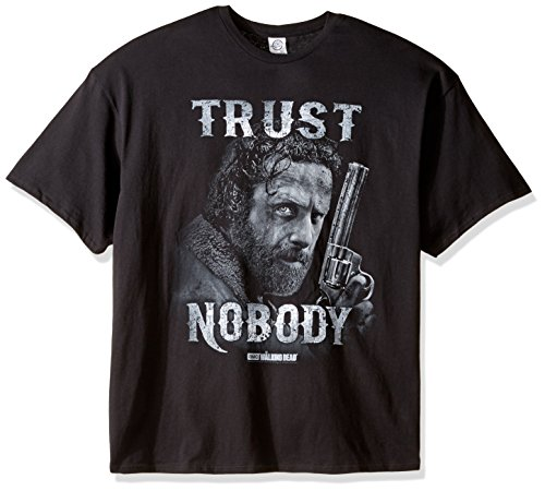Walking Dead Rick Grimes Trust Nobody Men's Black Shirt
