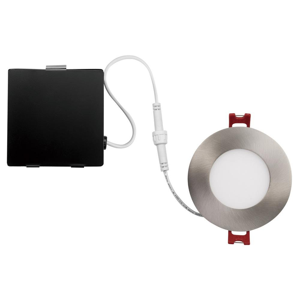 Globe Electric Designer Ultra Slim 3 in. Brushed Nickel Integrated LED Recessed Kit by Globe Electric (Image #1)