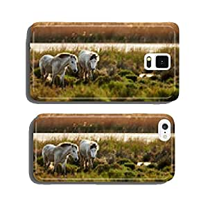 Two young white horses of Camargue cell phone cover case iPhone6