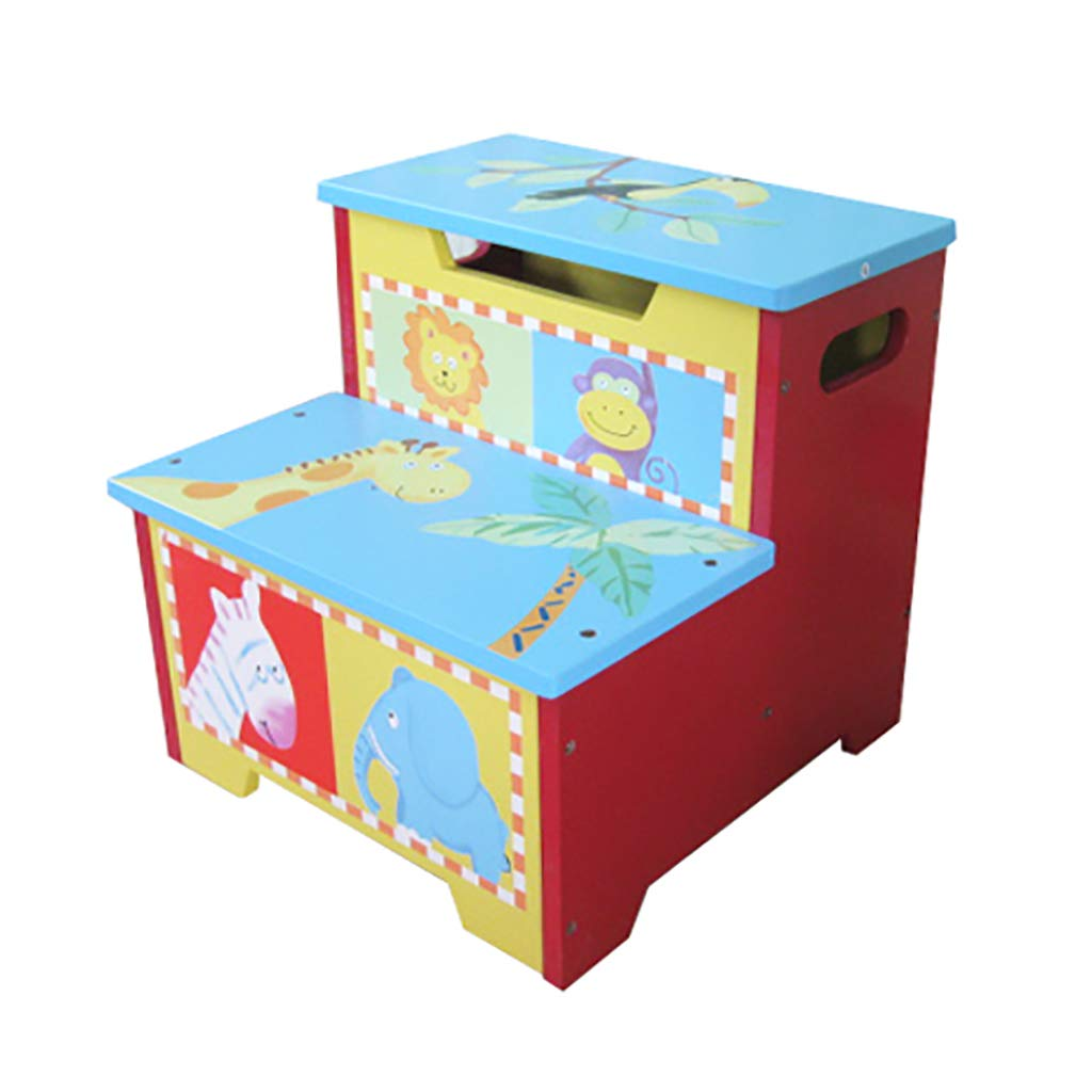 LFY Kids Step Stool, Color Cartoon Pattern Robust Structure and Novel Design