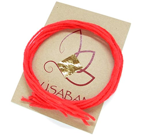 (BUSABAN Amulet Love Lucky Holy Thread Buddhist Monk Red String Buddha Bracelet Talisman Evil Protection)