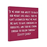 Vlacom Wrapped Canvas Prints Stretched Canvas Art Weight Loss Confidence
