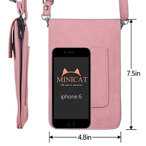 Wallet Slot Phone For Series Purse MINICAT Cell Bags Women Back Small Smartphone Pink Crossbody w8U5YqgxY