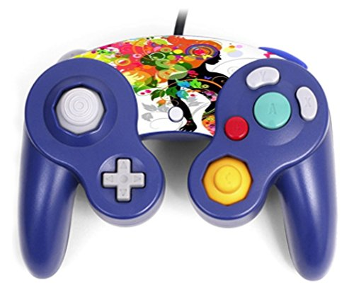 Sticker Skin Print Colorful Floral Beautiful Girl Big Hair Printed Design Gamecube Controller Vinyl Decal Sticker Skin by Smarter ()