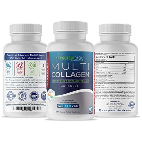 Multi Collagen Powder Capsules: Hair Skin and Nail Formula. 5 Types of Collagen Plus Vitamin C Collagen Booster. Now with Biotin, Hyaluronic Acid & Silica. Supports Healthy Hair, Skin, Nails & Joints
