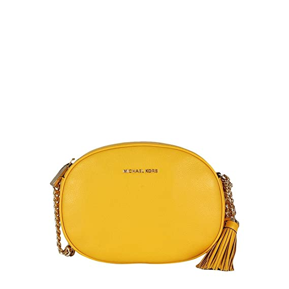 dc69df73ec207 Michael Michael Kors Borsa Donna Tracolla Ginny media in pelle Mod.  30H6GGNM2L TU  Amazon.co.uk  Clothing
