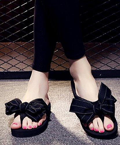 La Seashore Flip 3cm Flops talón Transpirable de Las Arco AJUNR Inferior elegante Negro playa zapatillas grueso de 37 37 Moda Sandalias Zapatillas wOxnX7q8
