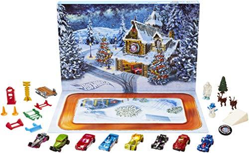 hot wheels advent calendar christmas car toys kids boys. Black Bedroom Furniture Sets. Home Design Ideas