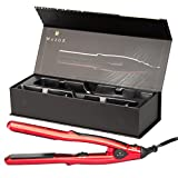 Dual Voltage Hair Straightener Mini Travel Flat Iron With 4/5 Inch Ceramic Tourmaline With Led Digital Control