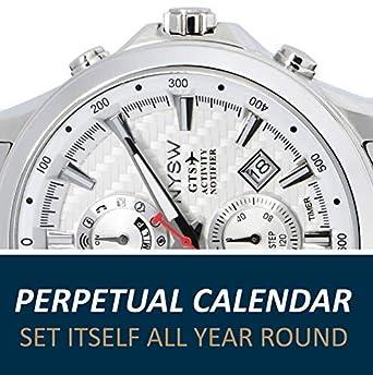 NYSW | La mayoría de Relojes Inteligentes híbridos de Lujo - Día mecánico - Cristal de Zafiro - Impresionante Segunda Mano y más (TC-NY-MH-07-W): Amazon.es: ...