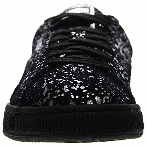 Suede Splatter Metallic Silver Puma Ankle Black High Leather Sneaker Men's Fashion PUMA qtOPWBO