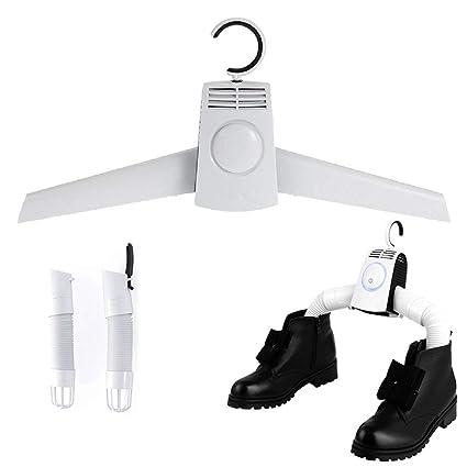 SSCJ 2 en 1 secador de Perchas Calzado eléctrico portátil para secadoras Aire frío y Caliente