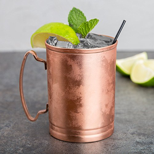 World Tableware CMM-200 14 oz. Moscow Mule Cup with Copper Finish - 12/Case by World Tableware