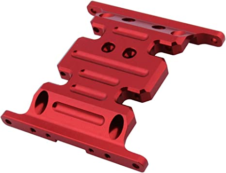 Titanium ZYCST Aluminum Alloy Gearbox Base Center Skid Transmission Plate for AXIAL SCX10 II 1//10 RC Rock Crawler Car Upgrade Parts