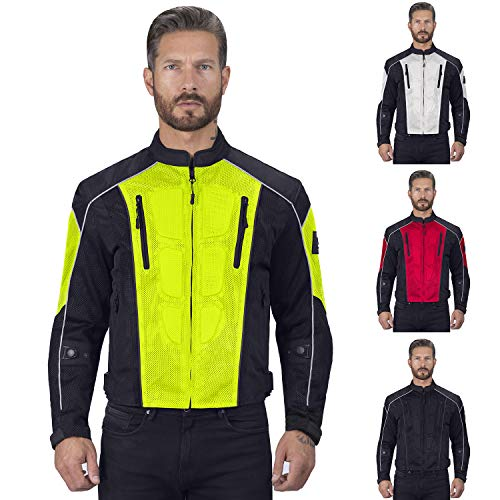 Viking Cycle Warlock Motorcycle Mesh Jacket For Men]()