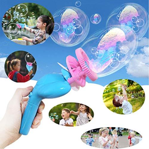 1 pcs Kids Funny Magic Bubble Blower Machine Bubble Maker Mini Fan Kids Outdoor Toys (Bubble-Free Water) by Ikevan
