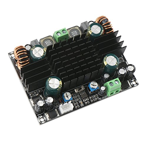 Mono Amplifier Board, DROK TPA3116D2 150W Mono Channel Audio Power Amplifier AMP Module DC 12-24V BTL Circuit for Car Vehicle Computer Speaker DIY Sound System Speaker Home Theater