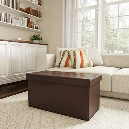 home, kitchen, furniture, accent furniture,  ottomans 11 on sale Lavish Home Large Foldable Storage Bench Ottoman – Tufted promotion