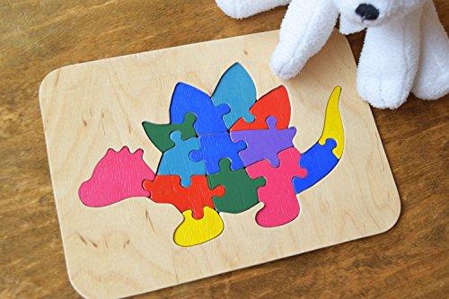 Stegosaurus Wood (Wood puzzle Dinosaur Stegosaurus Toy Dino)