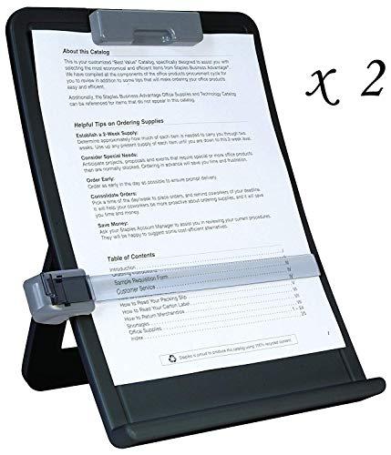 2 Staples Curved Desktop Copy Holders #35078 -
